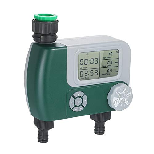 LYYJIAJU Temporizador de Riego Automático Controlador de riego Sistema de riego automático de riego programable Digital Temporizador de Grifo de la Manguera con Pilas con 2 Outlet (Color : Type 1)