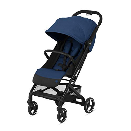 CYBEX Beezy Stroller, Lightweight Baby Stroller, Compact Fold, Compatible with All CYBEX Infant Seats, Stands for Storage, Easy to Carry, Multiple Recline Positions, Travel Stroller, Navy Blue