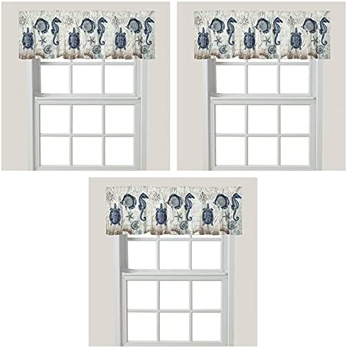 Laural Home Seaside Oakland Mall Postcard Window Blue Valance Max 71% OFF 3