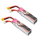 2Pcs GNB 520mAh 3S Lipo Battery XT30 80C 11.4V for Beta75X 3S HX100 75mm to 80mm 2inch Micro FPV Racing Drone Brushless Quadcopter