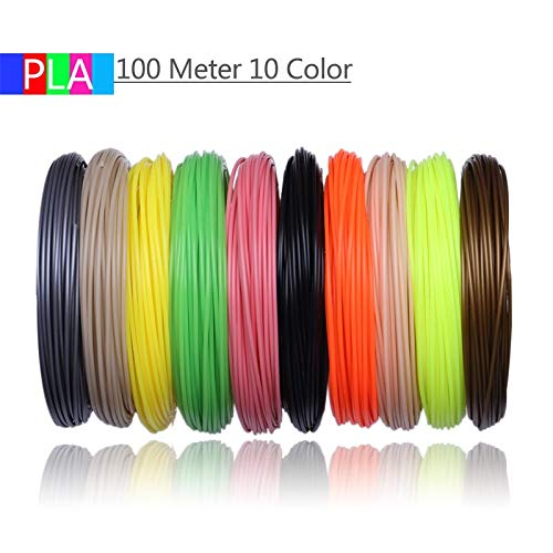 without KF-3D, 3D Printer Filaments 200 Meters 20 colors 3D Printing Pen Plastic Threads Wire 1.75 mm Printer Consumables 3D Pen Filament PLA (Color : Green)