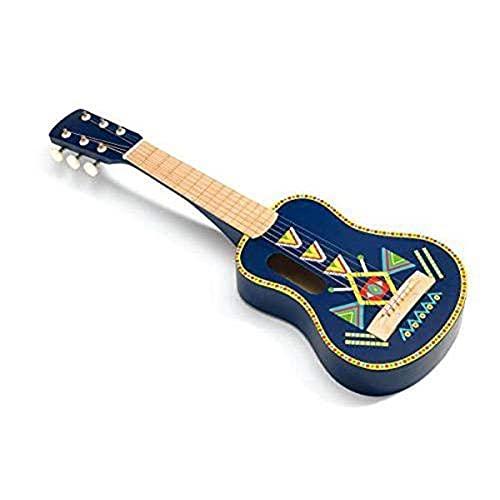 DJECO Guitarra 6 cuerdas metálicas Animambo 36024 Guitare 6 Cordes métalliques, Multicolore