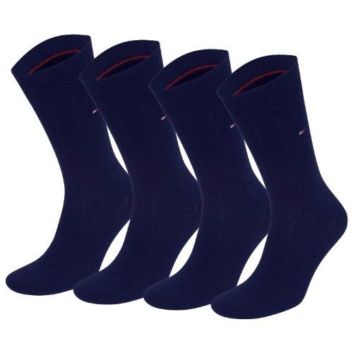 Tommy Hilfiger Classic – Calcetines para hombre, 4 pares Azul azul marino