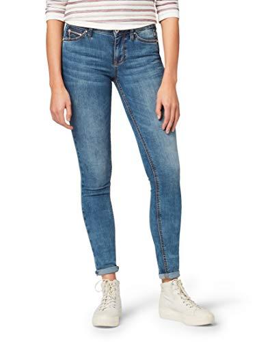TOM TAILOR Denim Damen Jeanshosen Jona Extra Skinny Jeans mid Stone wash Denim,31/32
