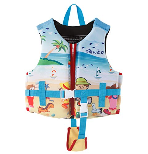 FR&RF Chaleco Salvavidas Profesionales niños Surfear Deportes acuáticos Chaleco de la Vida Infantil Natación en Bote de Agua Ski Safety Water Sports Wear,Azul,S