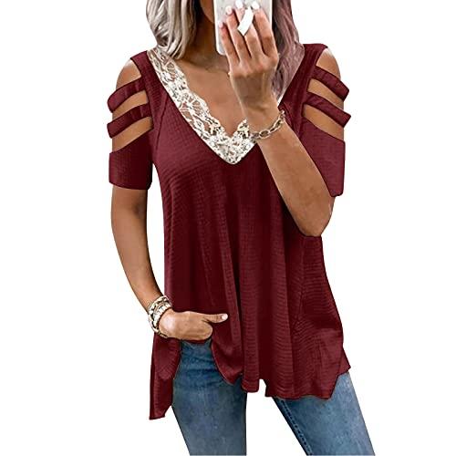 Briskorry Chiffon blouse dames elegante ritssluiting blouse tuniek bovenstuk T-shirt V-hals tops T-shirt zomer tuniek los bovendeel V-hals tops tops zomerblouse tops shirt