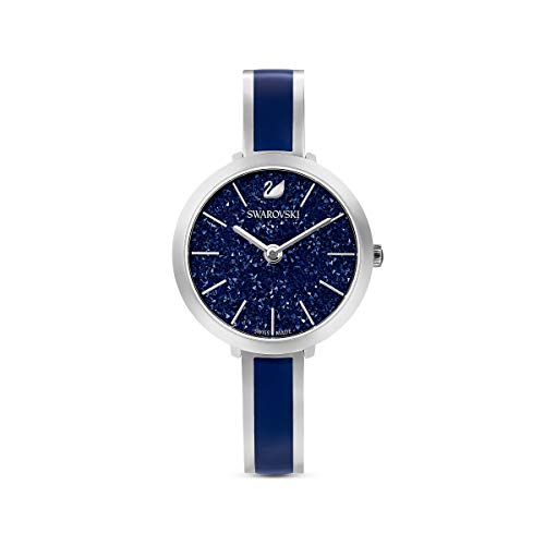 Swarovski Crystalline Delight Watch , Metal bracelet, Blue, Stainless steel