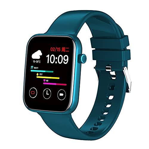 XJPB Smart Watch, papel pintado, presión arterial, monitor de fitness, reloj resistente al agua, para hombres, para Android iOS, azul
