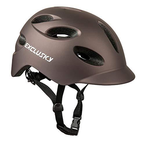 City Road - Casco de equitación con luces traseras para bicicleta eléctrica...
