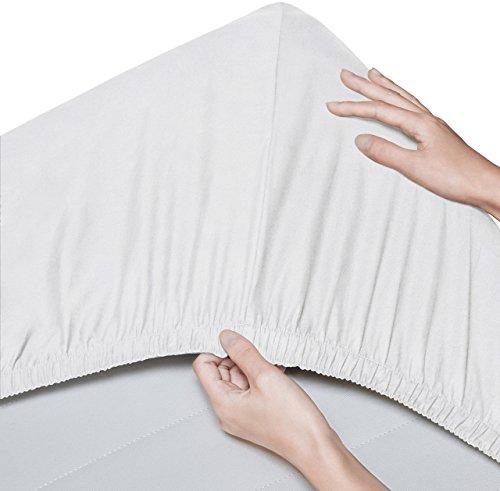 Pinzon - Spannbettlaken aus Bio-Baumwolle, Kinderbett/Babybett, 2er-Pack, 70 x 140 cm, Weiß