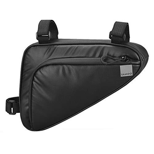 Bolsas Impermeables For Tubo Superior De Bicicleta Bolsa Triangular For Cuadro De Bicicleta, Accesorios For Paquetes De Bicicletas Ciclismo teléfonos Bolsas (Color : Black-A)