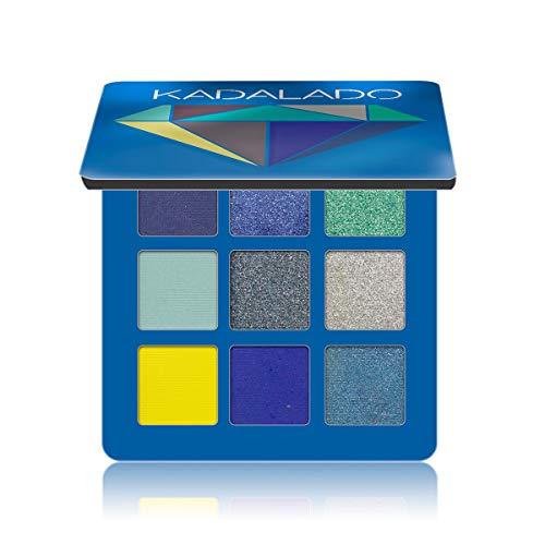 Paleta de sombra de ojos maquillaje mate+brillo 9 colores polvo de eyeshadow resistente waterproof al agua pigmentado ligero y fácil de transportar (02)