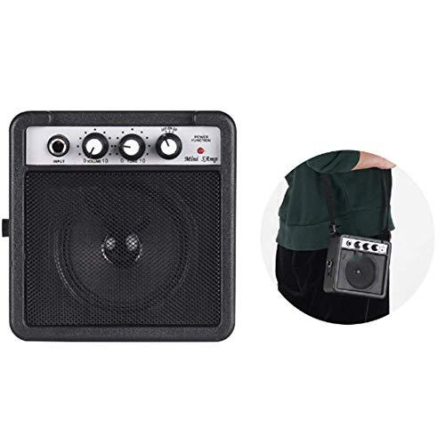 ZXCV 5W Mini Amplificatore per Chitarra Speaker (Invia Un Regalo a Sorpresa),Nero