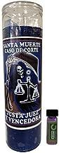Victoria Rey Holy Death Court Case Dressed Scented Candle - Veladora Preparada Santa Muerte Caso De Corte