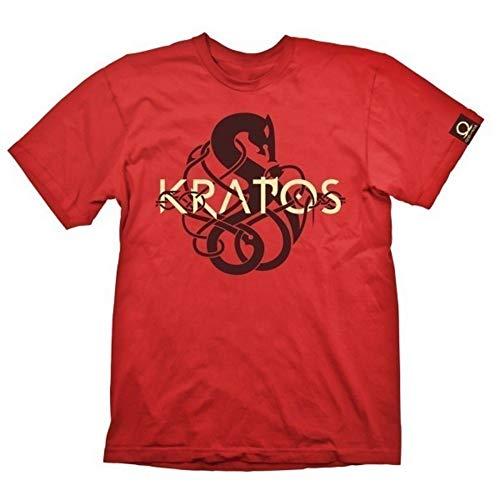 Gaya Entertainment Herren GOD of WAR Men's Kratos Symbol Logo, Large, Red (GE6241L) T-Shirt, Rot (Rot), L