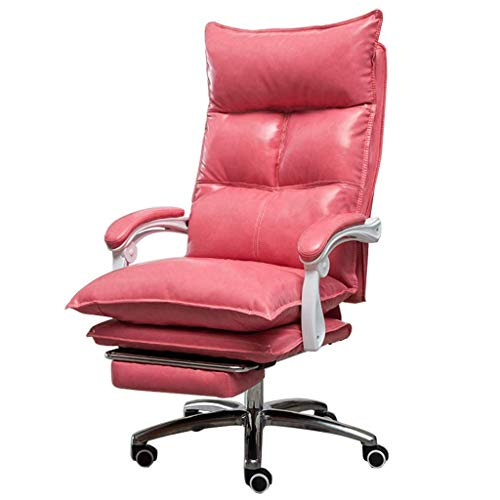N/Z Tägliche Ausrüstung Stühle Bürostühle mit Fußstütze und Rädern |Einstellbare Sitzhöhe 67 78Cm |Ergonomics Swivel Task Chair Einzigartiger Executive Office Chair Gelb