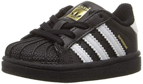 adidas Originals Kids' Superstar Sneaker, Core Black/White/White, 4K