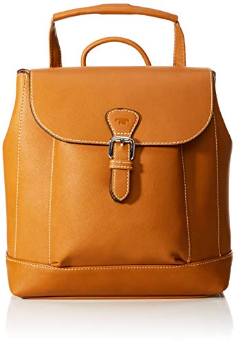 TOM TAILOR Rucksack Damen Nella, Braun (Cognac), 24x40x10 cm, TOM TAILOR Rucksackhandtasche, Damenrucksack,handtasche rucksack damen