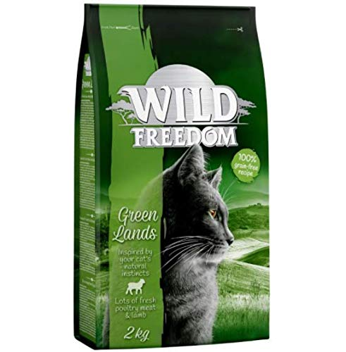 Wild Freedom 6kg Dry Cat Food + 800g Extra Free! (Adult Green Lands - Lamb)