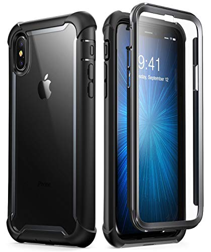i-Blason Cover iPhone XS / iPhone X, Custodia Rigida a 360 gradi Protezione per Schermo Integrata [Serie Ares] Rugged Case Compatibile con iPhone Xs/iPhone X, Nero