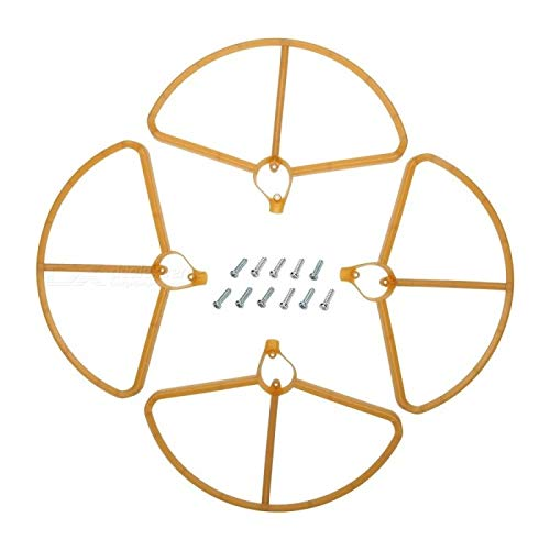 Radiokontrol Hubsan RC Quadcopter Spare Parts Upgraded Propeller Protective Covers for H501S H501C X4 - Gold (4 PCS) Prodotto Compatibile