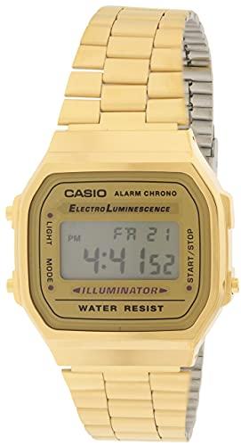 Casio A168WG-9 Men's Vintage Gold Metal...