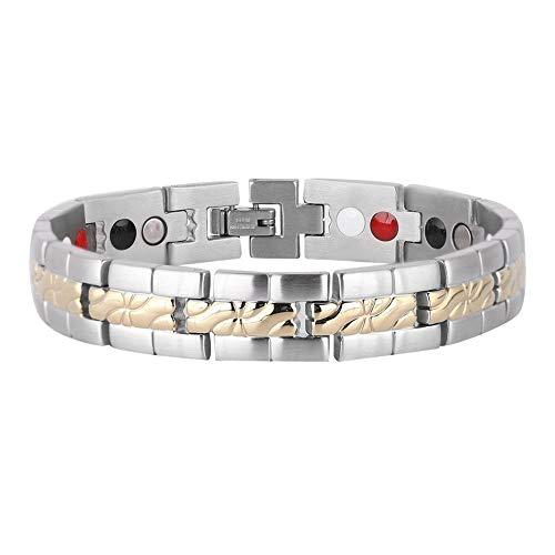 Geraffineerde stijl, titanium armband voor heren, energiearmband, therapie, sterke magneten en Germanium, link ter verlichting van artritis-pijn.