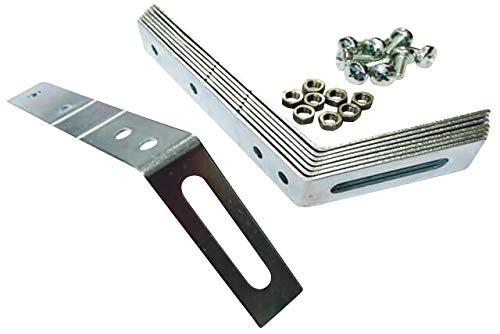 Dachhaken Set (Metall) für PVC & Zink Dachrinnen (1,5 mm (für PVC) > Pultdach)