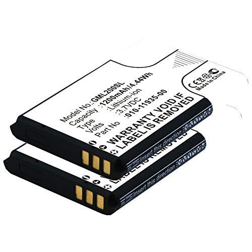 subtel 2X Batería Premium Compatible con Garmin GLO/GLO 2, 361-00030-00, 010-01055-15, 010-02184-01, 010-11935-00 1200mAh Pila Repuesto bateria