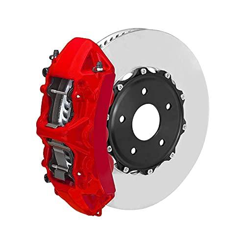 OMAC Bremssattellack Bremssattelfarbe Auto Lack Set   Bremsenreiniger und das Härtemittel Hitzebeständig Komplettsatz für 4 Bremssättel 7-teiliges Texas Rot (Matt)