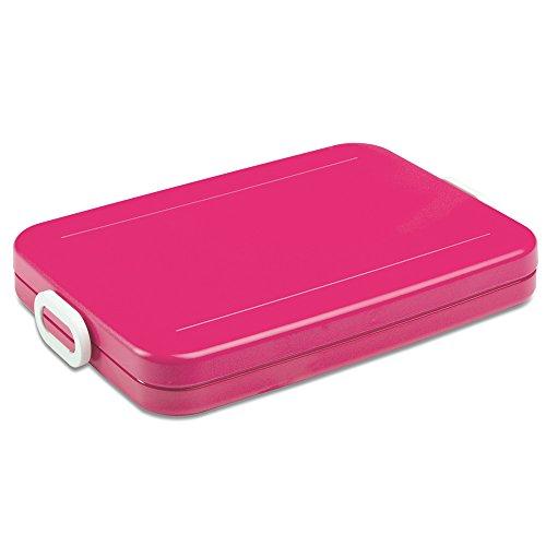 Rosti Mepal 107635072400 Take A Break Plate broodtrommel voor het lunch, ABS-kunststof (acrylonitril-butadieen-styreen), roze, 25,5 x 17 x 3,3 cm