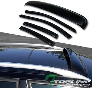 Topline Autopart Smoke Window Deflector Vent Shade Guard...