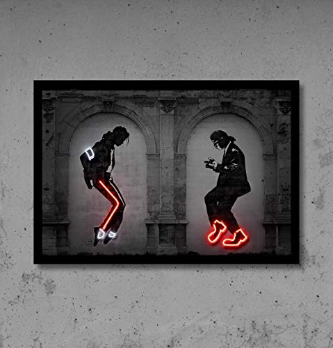 centiza Pulp Fiction Wall Art, Print Poster, Street Art Graffiti, Concrete Bricks, Stencil Art, Digital Sign, Mi_Chael Jack_Son, Dance 11x17 16x24 24x36 Inch (No Frame)
