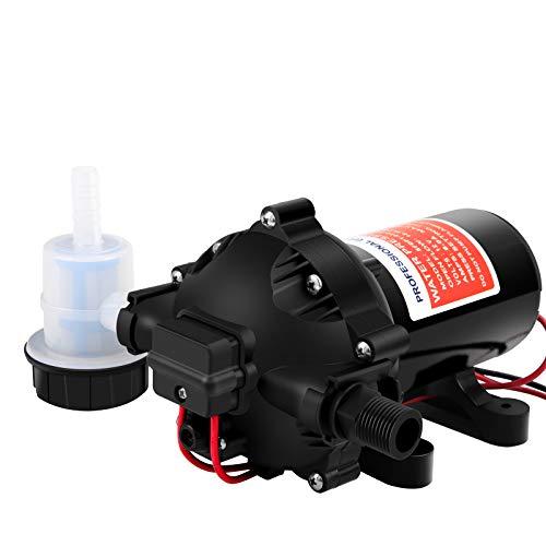 KOLERFLO Water Diaphragm Pump DC 12V Self Priming Water Pump 51-Series Pump 5.5 GPM, 70 PSI RV/Marine(FL-51)