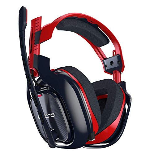 ASTRO Gaming A40 TR Casque Gamer Filaire, X-Edition, ASTRO Audio V2, Jack Audio 3,5mm, Micro Intechangeable, Tags Personnalisables, Poids Léger, PC/Mac/Portable/Xbox One/PS4 - Noir/Rouge