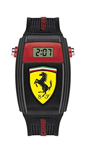 Scuderia Ferrari Quartz Watch with Silicone Strap, Black, 21 (Model: 0810012)