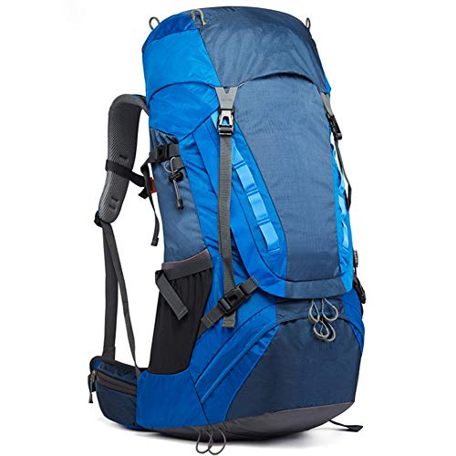 Mountaineering Bag Backpack Nylon Waterproof Outdoor Travel Large Capacity Hiking Backpack for Men And Women,blue