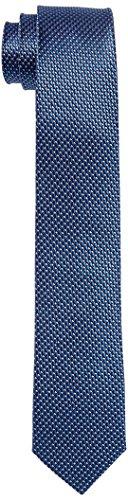Roy Robson Herren Krawatte, 5044, Blau (blau strukturiert 3), Gr. 6