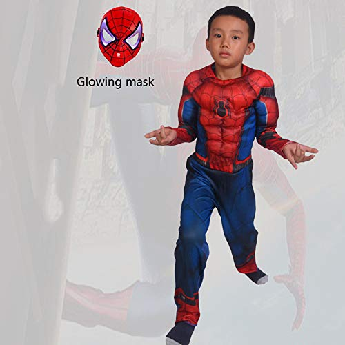 YIWANGO Niño Disfraz De Spiderman Bola De Disfraces Halloween ...