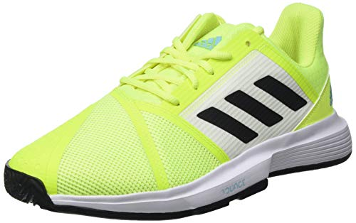 adidas CourtJam Bounce M, Zapatillas de Tenis Hombre, Amasol/NEGBÁS/CELBRU, 44 2/3 EU
