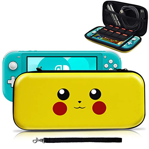 Carrying Case for Nintendo Switch Lite,[Design for Let's Go Pikachu/Eevee Pouch][Full Protective] Case for Switch Lite,Deluxe Travel Case Bag for Nintendo Switch Lite Joy-Con Accessories