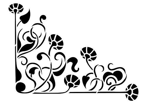 Artemio A4 - Plantilla para estarcir, diseño de Esquina Floral