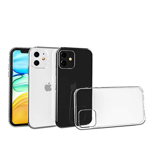 strencs ® iPhone 11 Hülle (Premium-transparent), Crystal-Design, Anti Gelb, Hard-PC als Backcover und seitlich Flexibles TPU