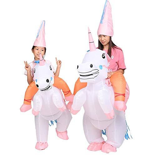 MHSHCQ Unicornio Ropa Inflable,Tejido de poliéster,para Disfraz Divertido Festividad de Todos los Santos Explotar Disfraces Traje de Jinete (2 Juegos)