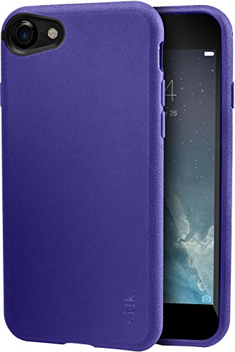 Silk iPhone 7/8 Grip Case - Base Grip Lightweight Protective Slim Cover - Kung Fu Grip - Purple Orchid