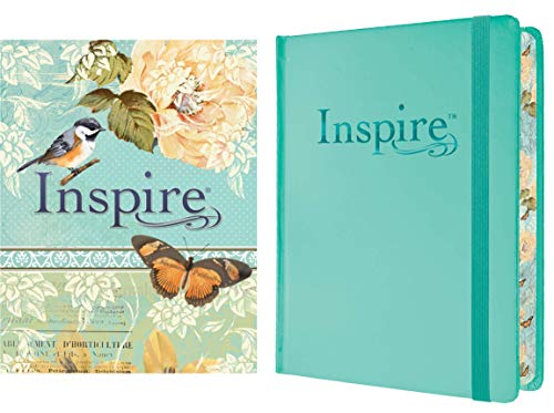 Compare Textbook Prices for Tyndale NLT Inspire Bible Hardcover, Aquamarine: Journaling Bible with Over 400 Illustrations to Color, Coloring Bible with Creative Journal Space - Religious Gift that Inspires Connection with God Illustrated Edition ISBN 9781496413741 by Tyndale
