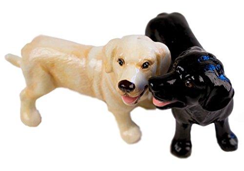 Labrador Retriever Salz-und-Pfeffer-Set handgefertigt Gelb und Schwarz Mini (7cm x 9cm)