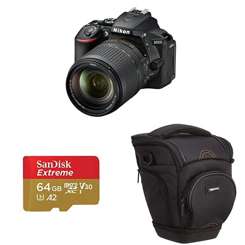 Nikon D5600 + AF-P DX 18-55mm VR + 8GB SD Juego de Camara SLR 24,2 MP CMOS 6000 x 4000 Pixeles Negro - Camara Digital (24,2 MP, 6000 x 4000 Pixeles, CMOS, Full HD, Pantalla tactil, Negro)