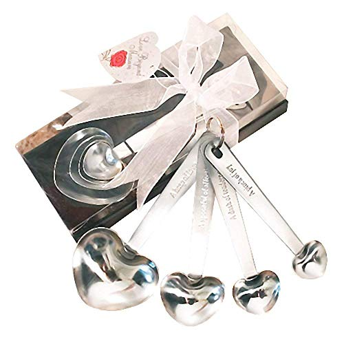 Heart Shaped Measuring Spoon Wedding Favors, 16