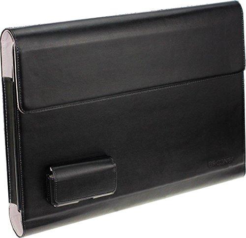 Navitech Broonel London – Prestige – schwarzes Premium Fall/Abdeckung/Trage Tasche/Folio speziell für Toshiba PORTEGE Z20T-C-11E 12.5
